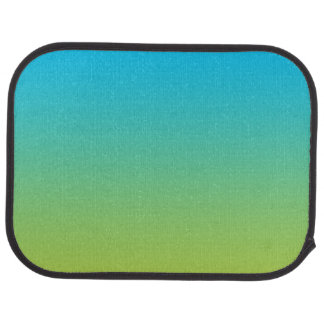"""""""Blue And Green Ombre"""" Floor Mat"""