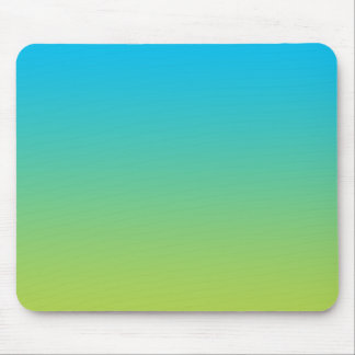 """""""Blue And Green Ombre"""" Mouse Pad"""