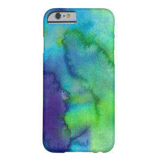 Blue And Green Watercolor Custom Barely There iPhone 6 Case