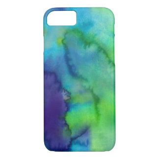Blue And Green Watercolor Custom iPhone 7 Case