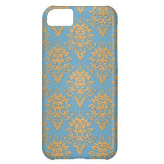 Blue and Orange Damask Pattern iPhone 5C Case