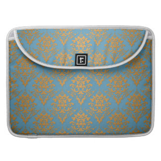 Blue and Orange Damask Pattern MacBook Pro Sleeve