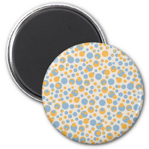 Blue and orange dots magnet