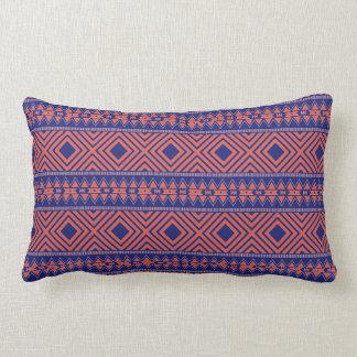 Blue and Orange Southwestern Design Pillow