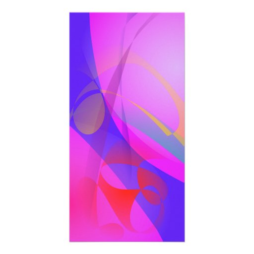 Blue and Pink Abstract Print Art Photo Card