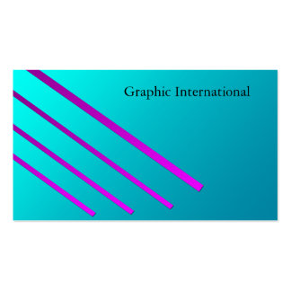 Blue and Pink Business Card