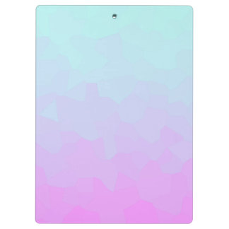 Blue and pink gradient clipboard