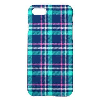 Blue and pink plaid iPhone 8/7 case