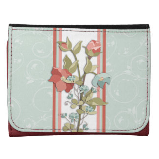 Blue and Pink Provence Floral Wallet