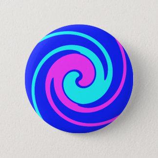 Blue and Pink swirled 6 Cm Round Badge