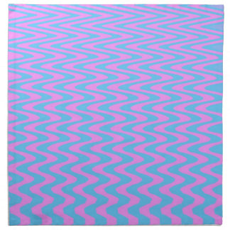 Blue and Pink Wavy Lines Napkin
