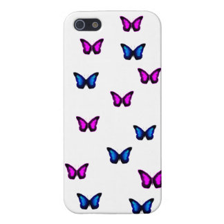 Blue and Purple Butteflies iPhone 5/5S Cases