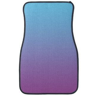 """""""Blue And Purple Ombre"""" Car Mat"""