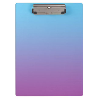 """Blue And Purple Ombre"" Clipboards"