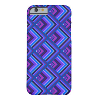 Blue and purple stripes scale pattern barely there iPhone 6 case