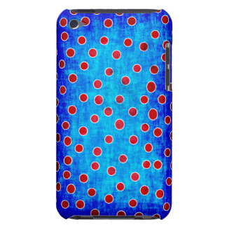 Blue and red dots case barely there iPod cases