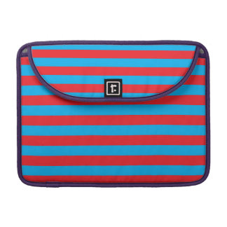 Blue and Red Horizontal Stripes Sleeve For MacBooks