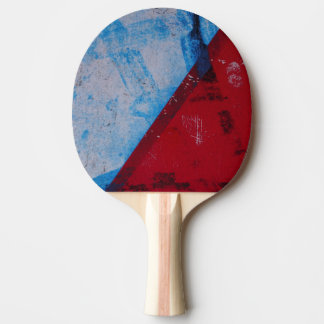 Blue and Red Ping Pong Paddle