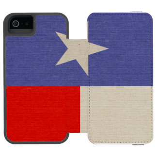 Blue and Red Texas Flag Fabric Incipio Watson™ iPhone 5 Wallet Case