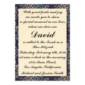 Blue and White Bar Mitzvah/Birthday Invitation