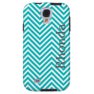 Blue and White Chevron Samsung Galaxy S4 Case