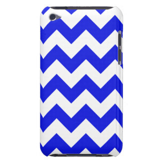Blue and white chevron stripes barely there iPod case