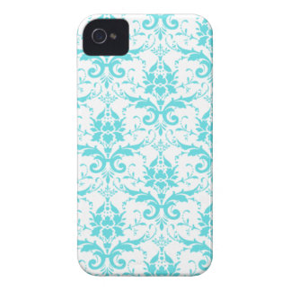 Blue and White Damask iPhone 4/4S Case