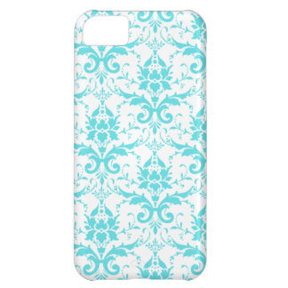 Blue and White Damask iPhone 5 Case