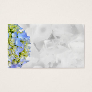 Blue and White Floral Blank Wedding Place Cards