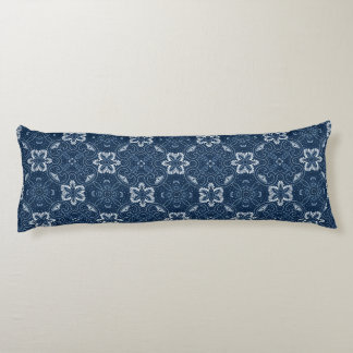 Blue and White Floral Design Body Cushion