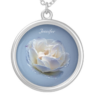 Blue and White Flower Necklace