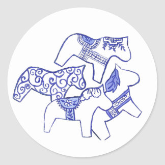 Blue and white horse Sticker