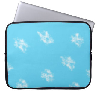 blue and white laptop sleeve