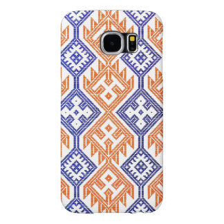 Blue and White Orange Textile Team Sports Colors Samsung Galaxy S6 Cases
