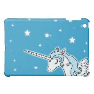 Blue and white Pegasus Unicorn iPad Mini Covers