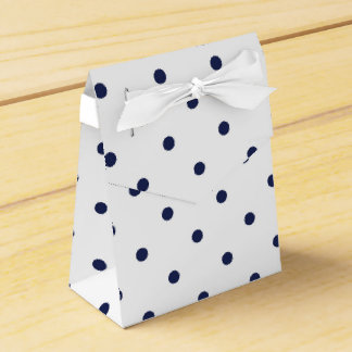 Blue and White polka dots Favour Box
