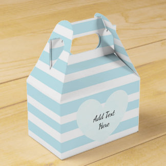 Blue and White Striped Candy Treat Box