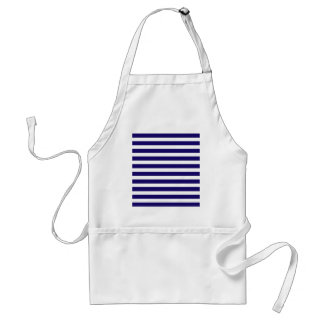 Blue And White Stripes Apron