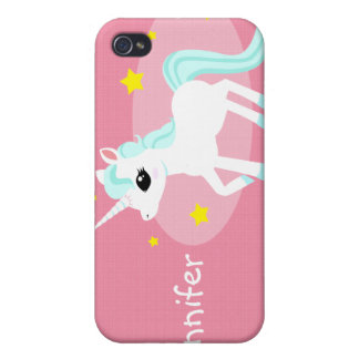 Blue and white Unicorn stars Customise iPhone 4/4S Covers