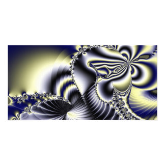 Blue and yellow abstract beauty picture card