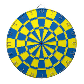 Blue And Yellow Dartboard