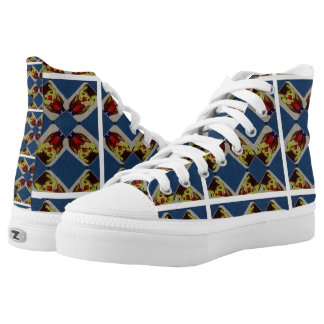 Blue And Yellow Duck Boy Shoes Printed Shoes