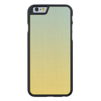 Blue And Yellow Maple Wood Carved® Maple iPhone 6 Slim Case
