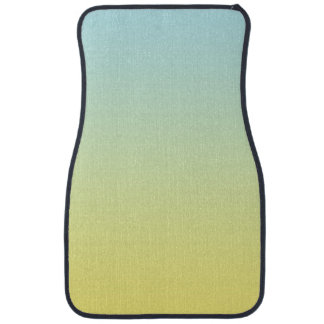 """""""Blue And Yellow Ombre"""" Car Mat"""