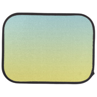 """Blue And Yellow Ombre"" Car Mat"
