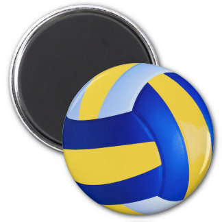 Blue and Yellow Volleyball Magnet