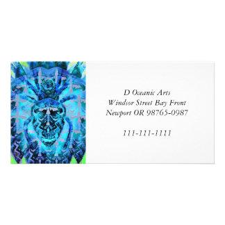 Blue Arachnid Photo Greeting Card
