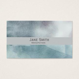 Blue art watercolour modern stylish business card