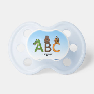 Blue baby boy ABC Pacifier