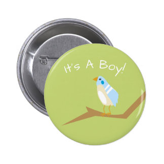 Blue Baby Shower Chic Nature Blue Bird Favor Pin